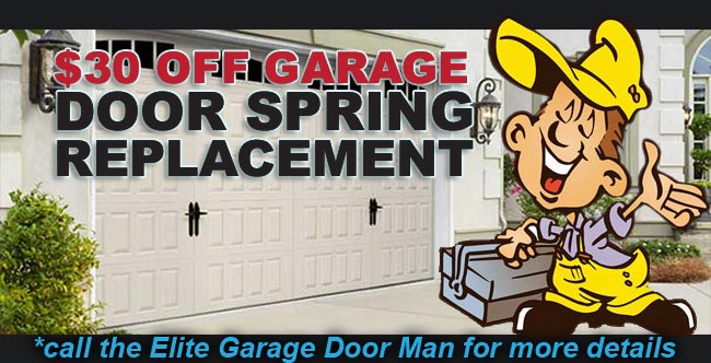 $30 Off Garage Door Spring Replacement